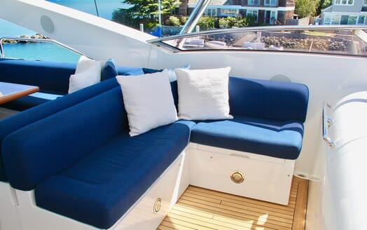 Motor Yacht Emrys sundeck