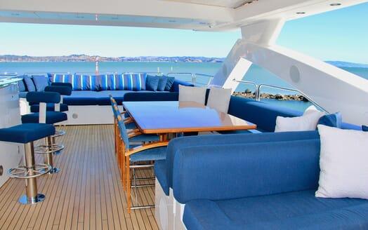 Motor Yacht Emrys flydeck