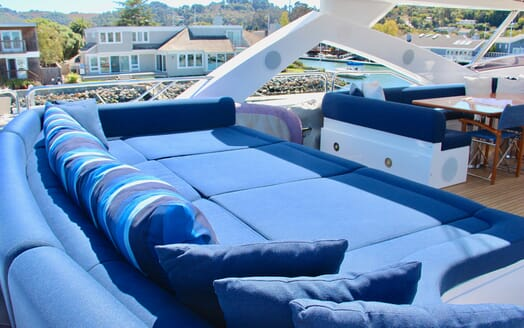 Motor Yacht Emrys sun loungers