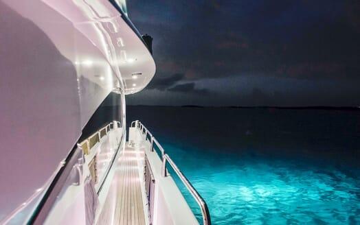 Motor Yacht Emrys side deck