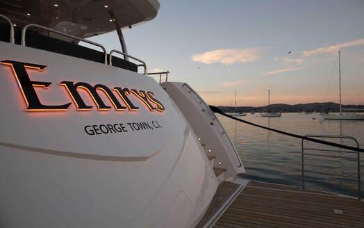 Motor Yacht Emrys aft