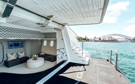Motor Yacht Tango aft deck
