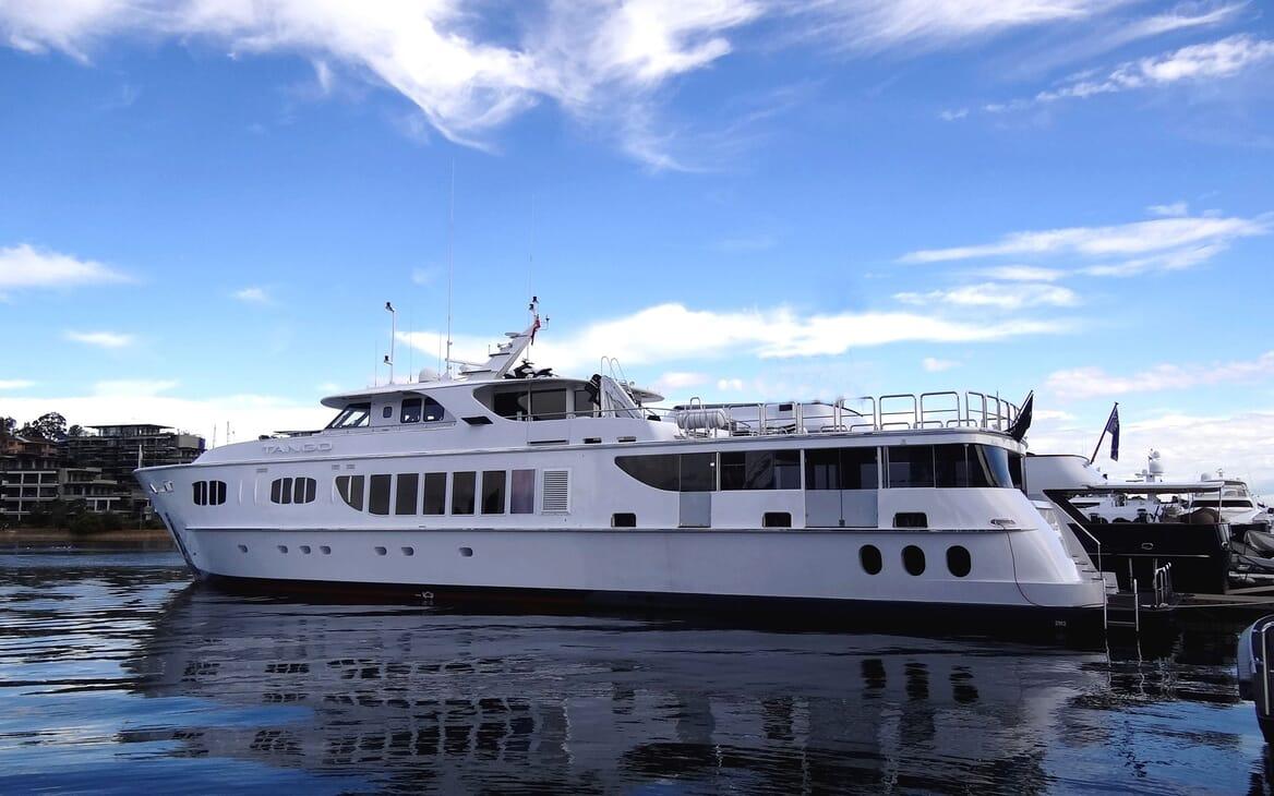 Motor Yacht Tango moored