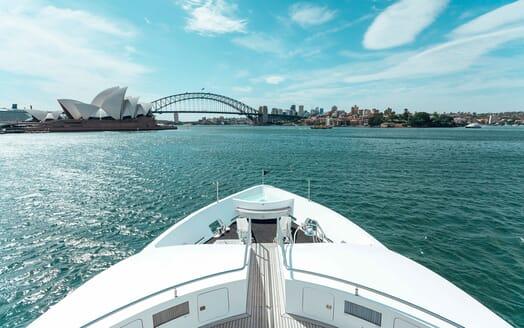 Motor Yacht Tango foredeck