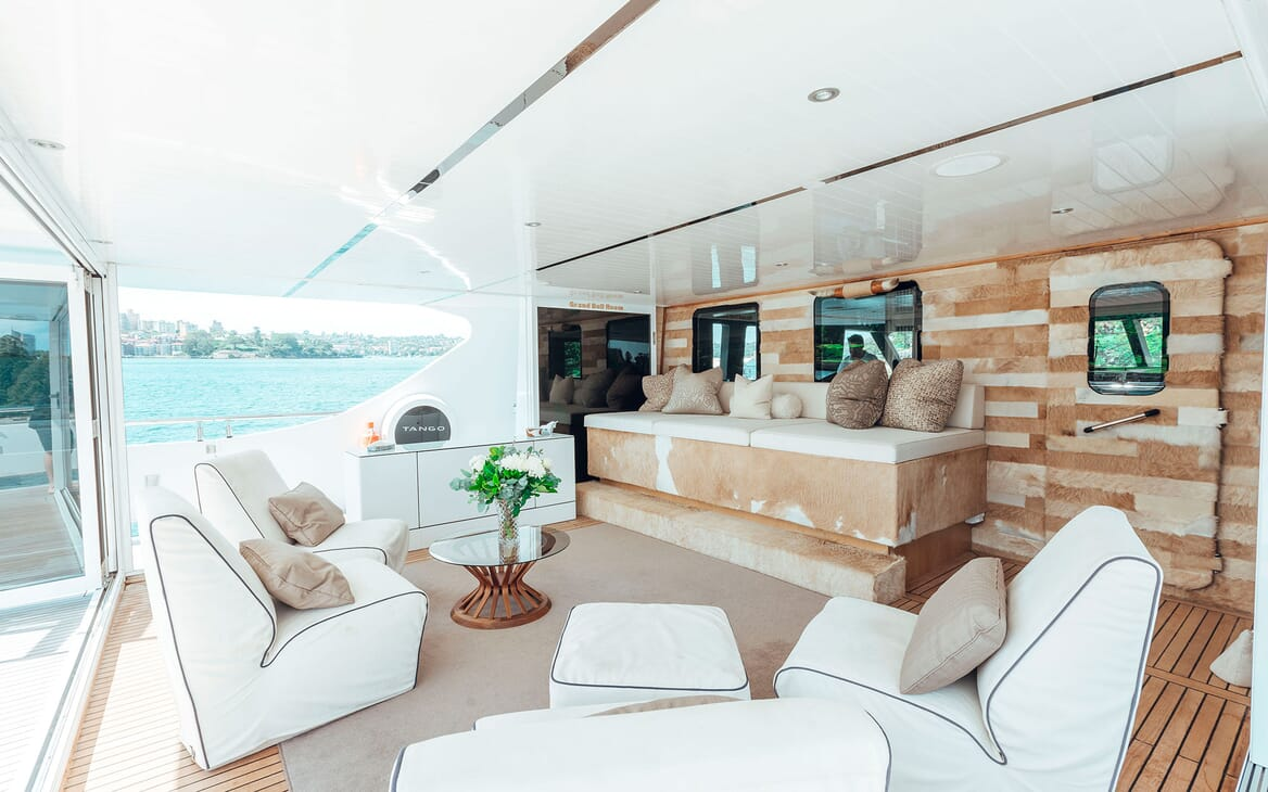 Motor Yacht Tango seating area