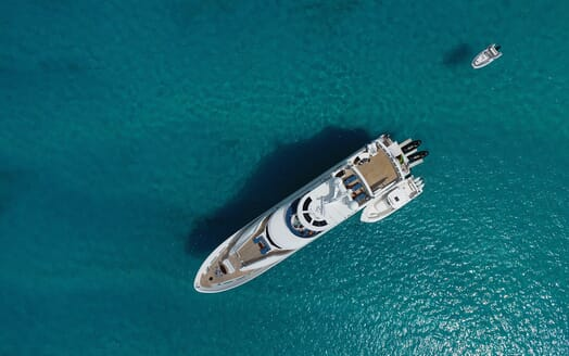 Motor Yacht Milk Money Aerial Exterior
