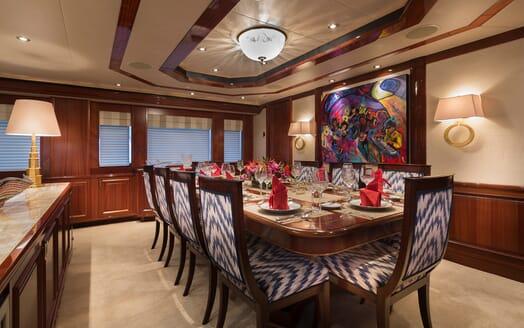 Motor Yacht Milk Money Dining Table