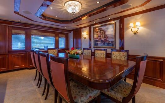 Motor Yacht Milk Money Dining Room