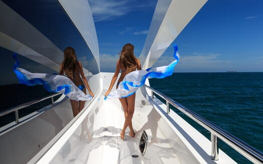 Motor Yacht Paradise side deck