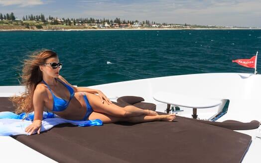 Motor Yacht Paradise sun loungers