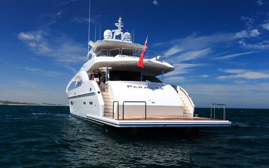 Motor Yacht Paradise aft shot