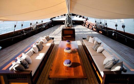 Sailing Yacht DUNIA BARU On Deck Seating