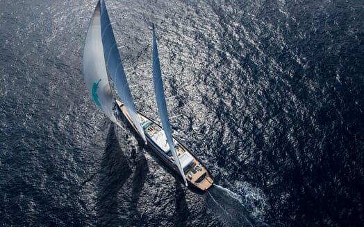 Sailing Yacht AQUIJO Aerial