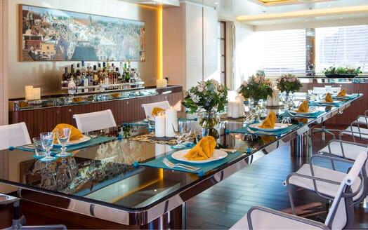 Sailing Yacht AQUIJO Dining Table