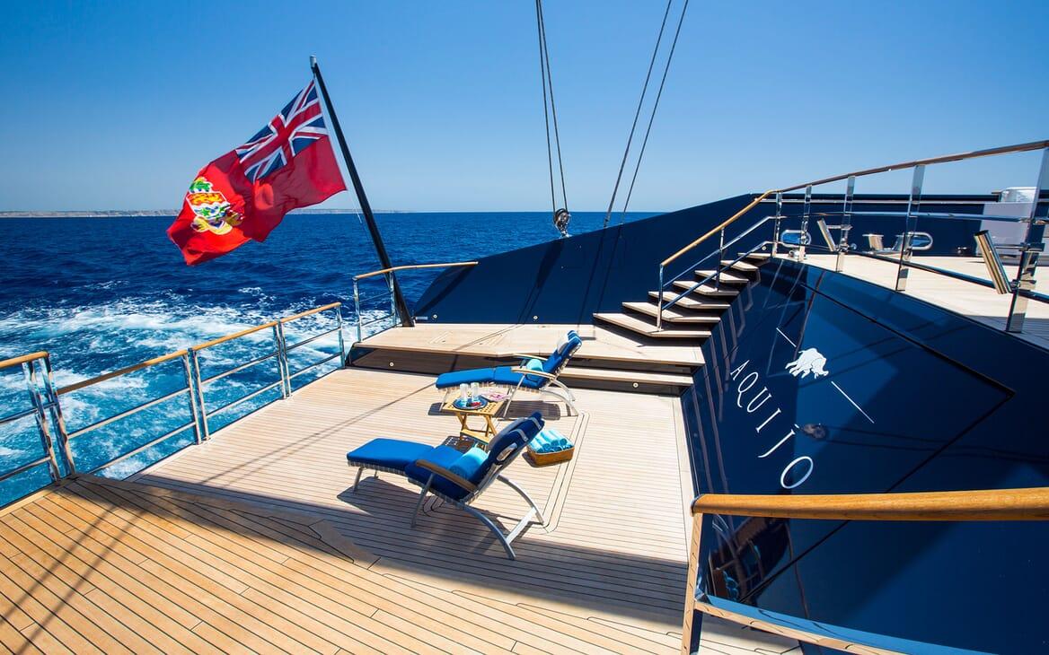 Sailing Yacht AQUIJO Aft Deck