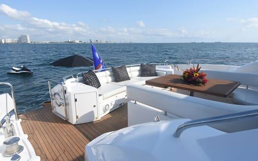 Motor Yacht Double D aft deck