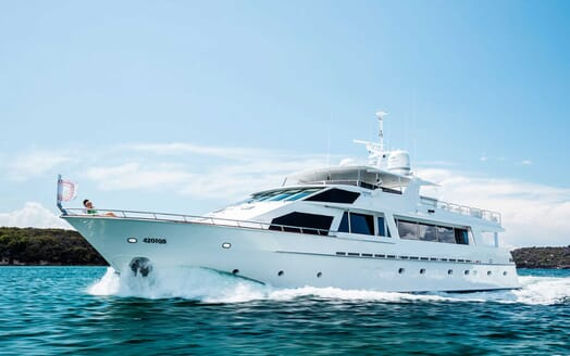 Motor Yacht Corroboree running shot