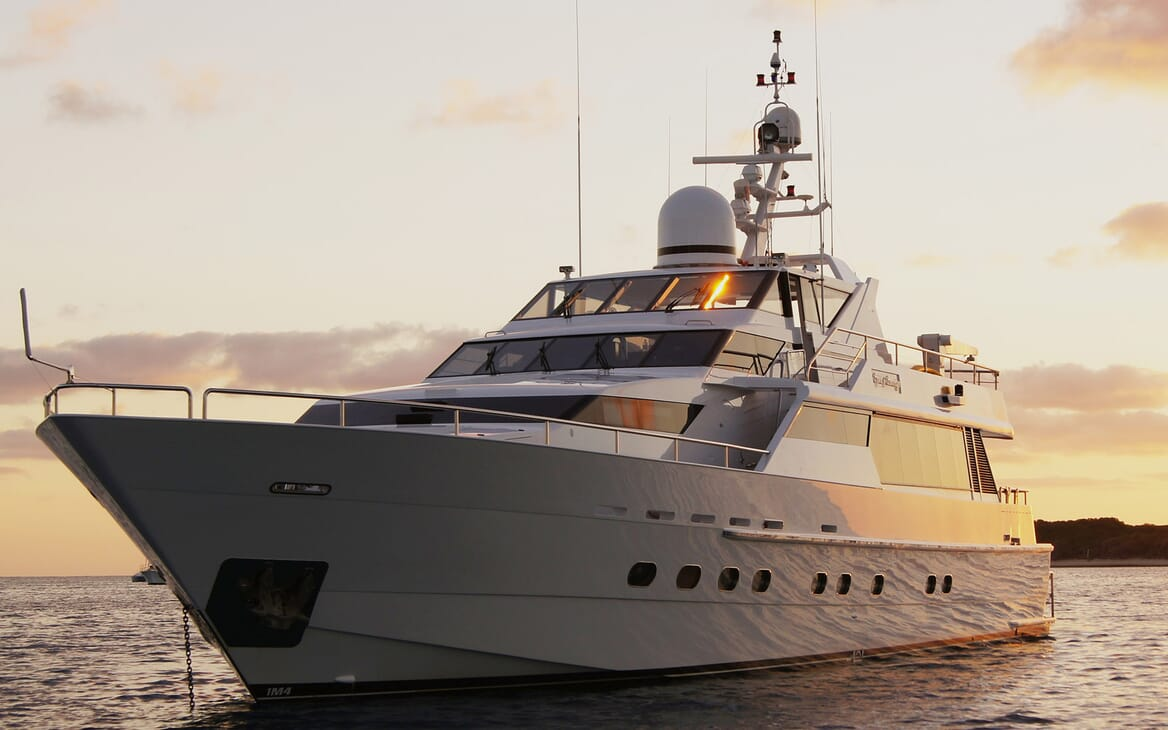 Motor Yacht Oscar II anchored