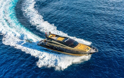 Motor Yacht CLAREMONT Aerial Turning