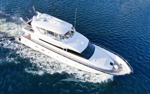 Motor Yacht Pearl running shot