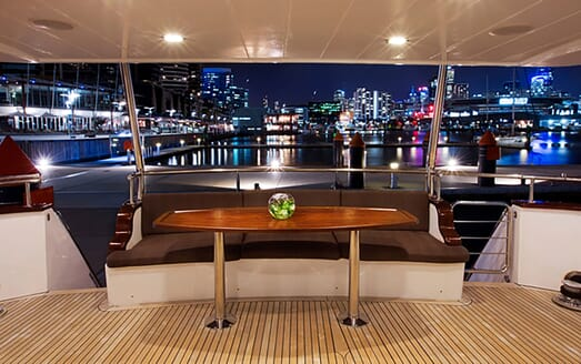Motor Yacht Pearl aft deck