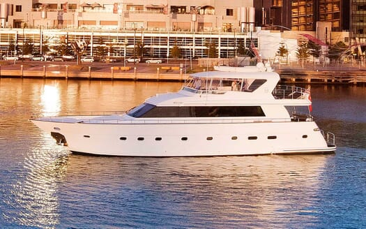 Motor Yacht Pearl underway