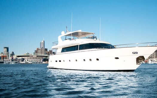 Motor Yacht Pearl bow