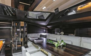 Sailing Yacht Gigreca living area