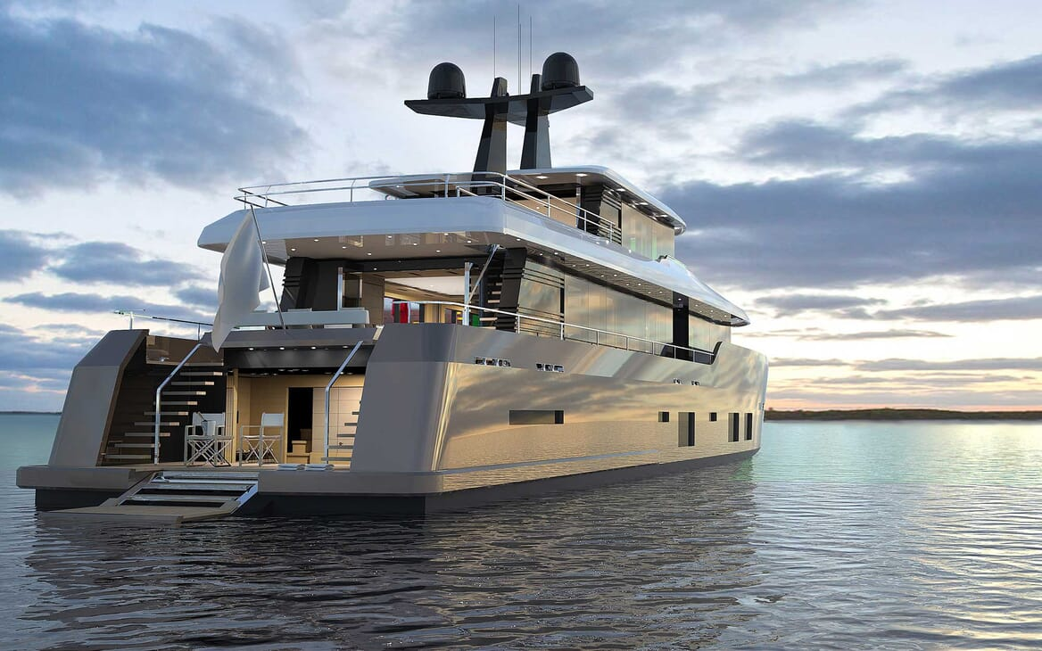 Motor Yacht Darnet 38m aft shot
