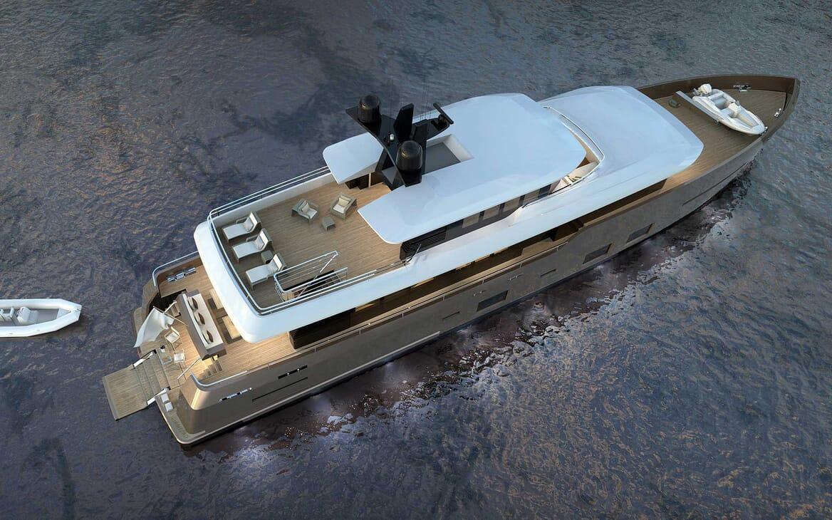 Motor Yacht Darnet 38m aerial