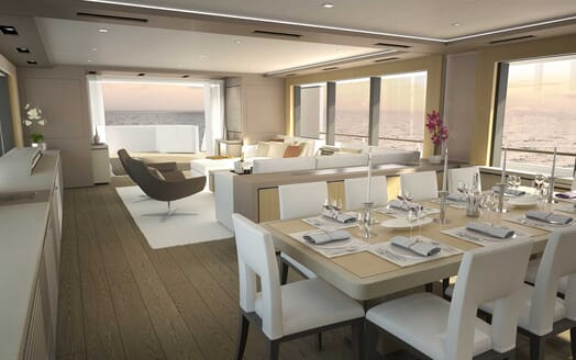 Motor Yacht Darnet 38m dining area