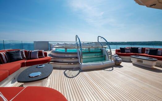Motor Yacht SUNRAYS Sun Deck Jacuzzi