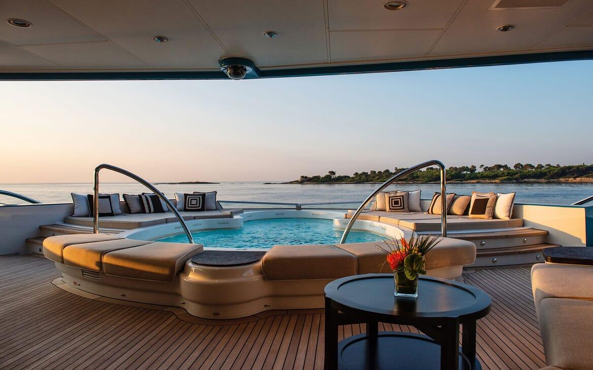 Motor Yacht SUNRAYS Lower Aft Deck Jacuzzi