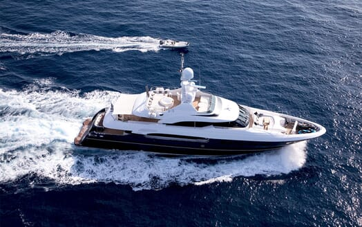 Motor Yacht MY WAY Aerial Underway