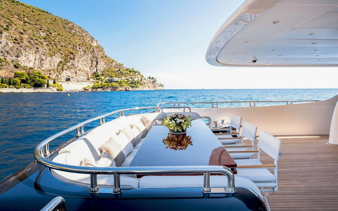 Motor Yacht MY WAY Aft Seating Side On