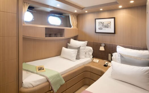 Motor Yacht SEVEN C Twin Guest Stateroom