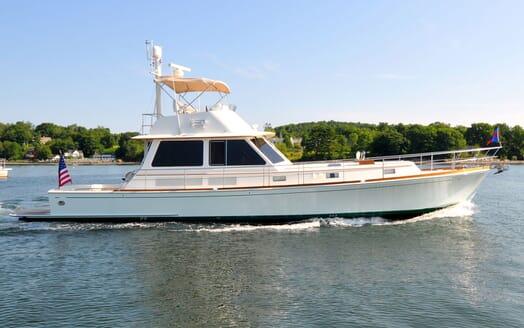 Motor Yacht Chaos cruising