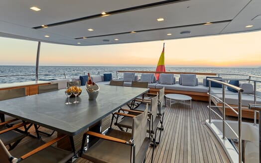 Motor Yacht Takara Alfresco Dining