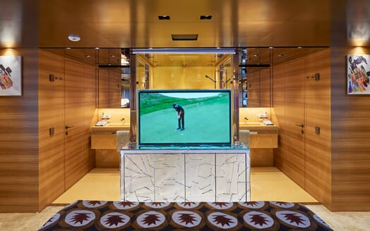 Motor Yacht Takara Master Stateroom TV