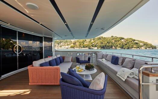 Motor Yacht Takara Aft Deck Seating
