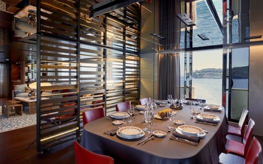 Motor Yacht Takara Dining Room