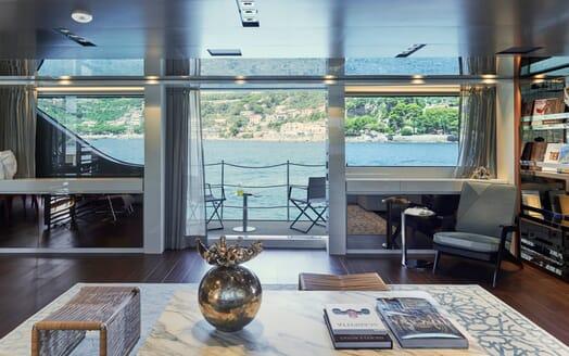 Motor Yacht Takara Balcony