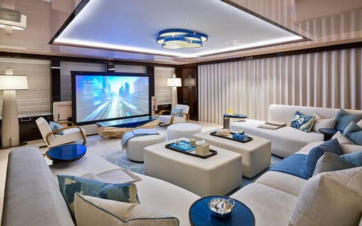 Motor Yacht 63m Amels Main Salon Cinema
