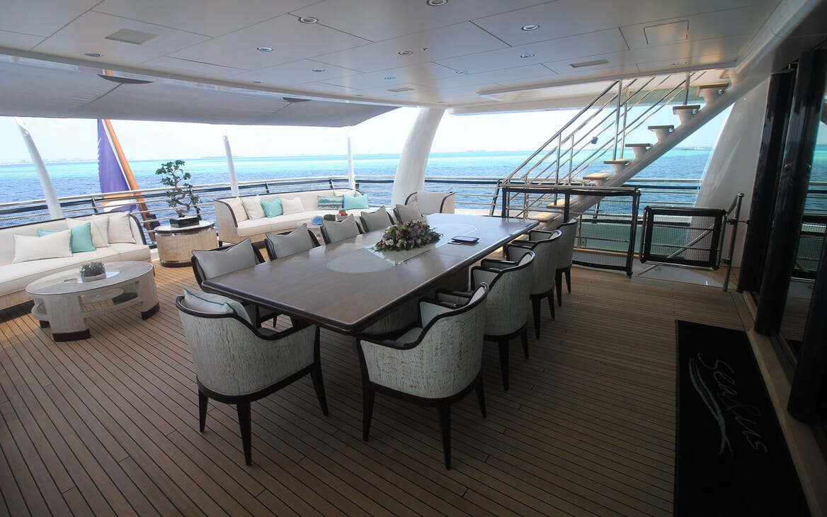 Motor Yacht 63m Amels Aft Dining