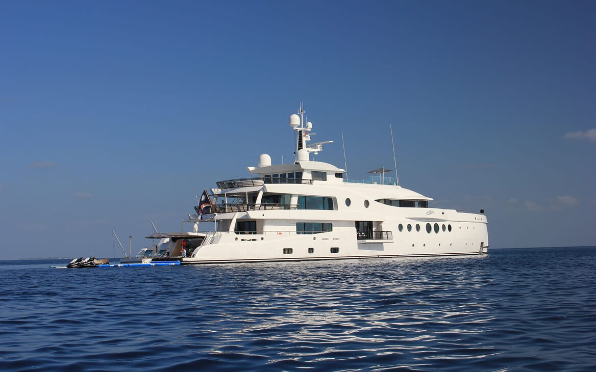 Motor Yacht 63m Amels Anchored Profile