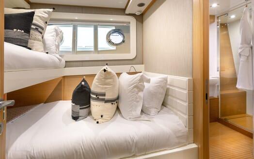 Motor Yacht La Pace guest cabin