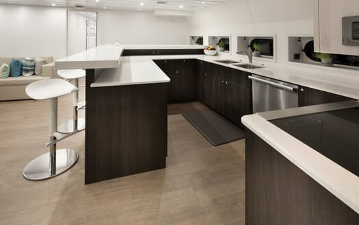 Motor Yacht Axis galley