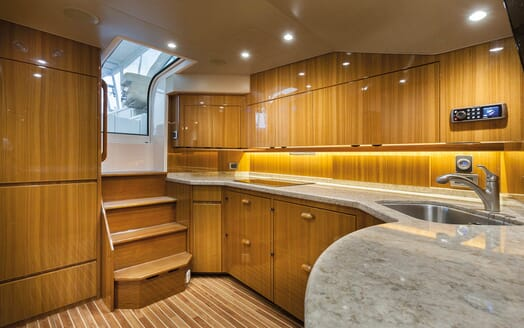 Motor Yacht Axis speed boat galley