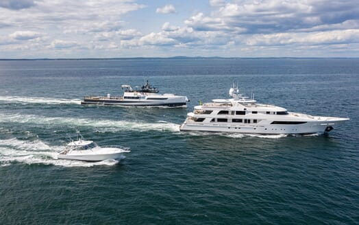 Motor Yacht Axis running shot
