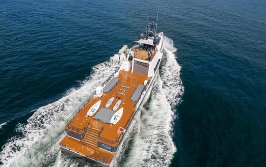 Motor Yacht Axis aerial